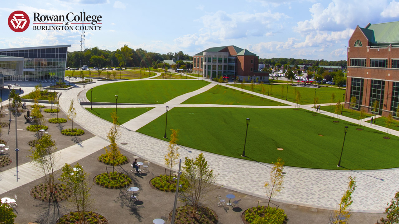 An aerial shot of the Quad