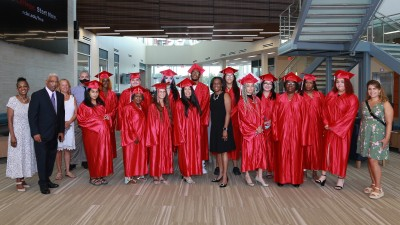 Staff and students at the 2021 Adult Basic Education Graduation Ceremony