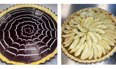 The two tarts side-by-side