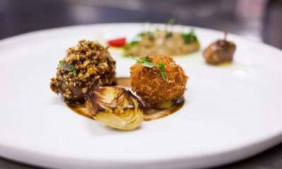 A plated quail dish