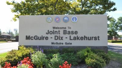 Joint Base MDL Entrance Sign - McGuire Gate
