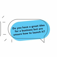 speech bubble asking if you have a great idea for a business but are unsure how to launch it