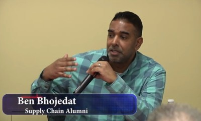 Ben Bhojedat speaking on panel